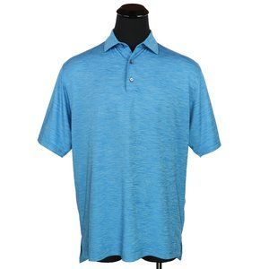 FootJoy FJ Golf Polo Shirt Heather Blue Large